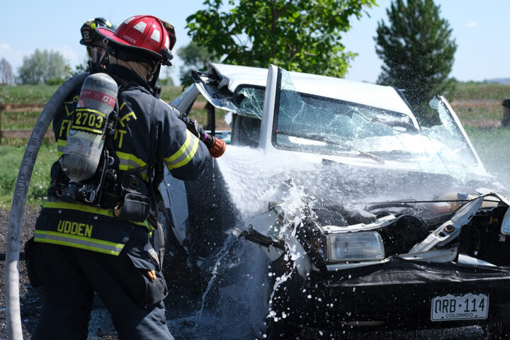 First Responder At Car Accident