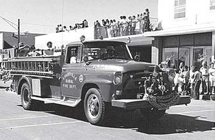 mid century fire truck